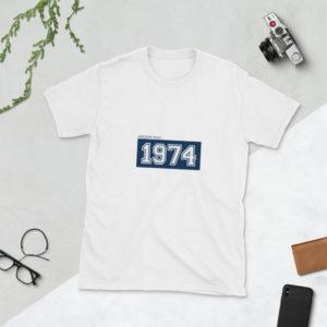 T-shirt Personalizada Ano de Nascimento . Presentes originais - Prendas para Amigos . Presente para Ele . Alegre Portuguesa