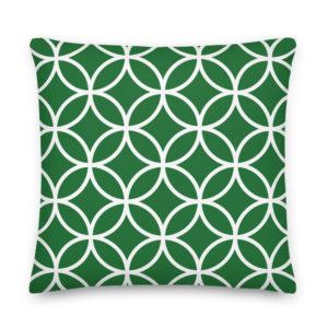 Almofada Padrão Geométrico Verde . Decoração Quarto . Decoração Sala . Alegre Portuguesa