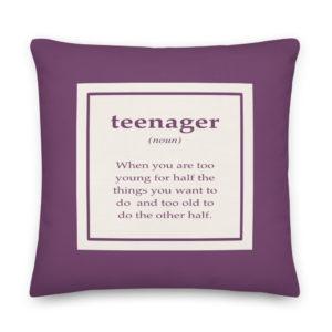 Almofada Teenager . Roxa . Decoração Quarto . Presentes Originais . Presentes para Amigas