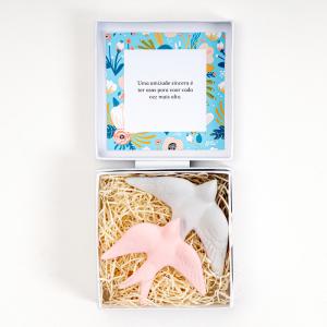 Gift Box Personalizada com mensagem Andorinhas - Alegre Portuguesa