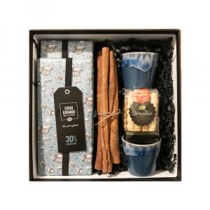 Gift Box Chocolates Casa Grande + Copos Cafe Costa Nova + Biscoitos Paupériol
