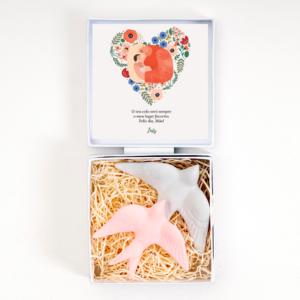 Gift Box Personalizada Dia da Mãe - Andorinhas - Prendas Originais Alegre Portuguesa
